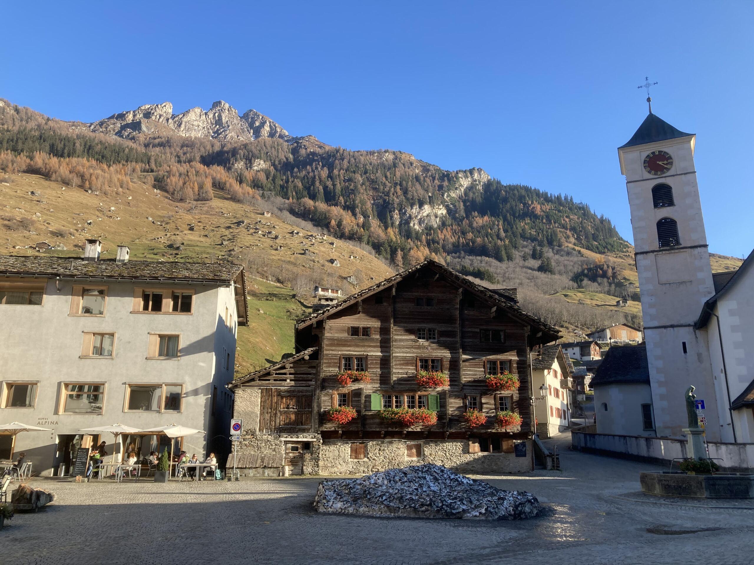 Dorfplatz in Vals