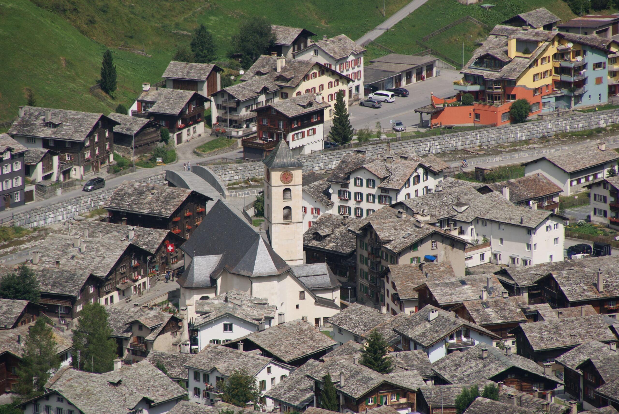 Dorfbild von Vals