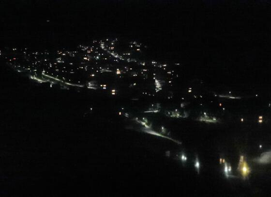 Nachtfahrt mit der Gondelbahn zurück nach Vals